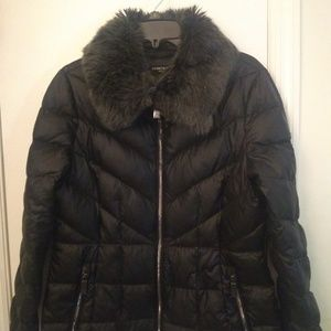 Kenneth Cole Faux Fur Puffer Coat
